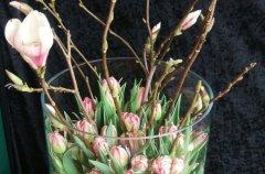 家庭插花:大口径花瓶的插花技巧